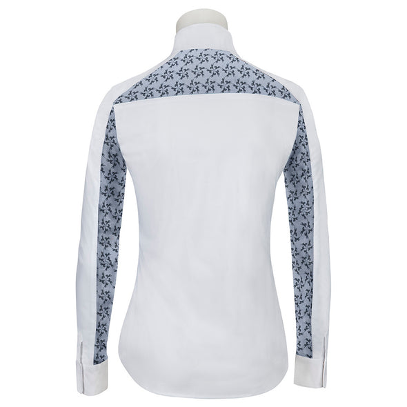 RJ Classics Lauren Ladies Show Shirt - Pinwheel Lace - Equestrian Chic Boutique