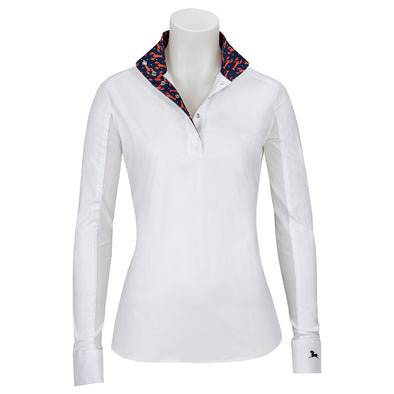 RJ Classics Rebecca Ladies Show Shirt - Lobster - Equestrian Chic Boutique