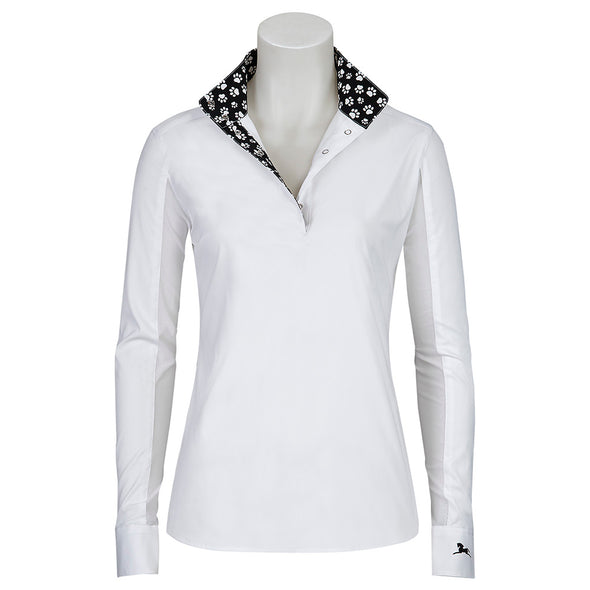 RJ Classics Rebecca Ladies Show Shirt - Paw Prints - Equestrian Chic Boutique