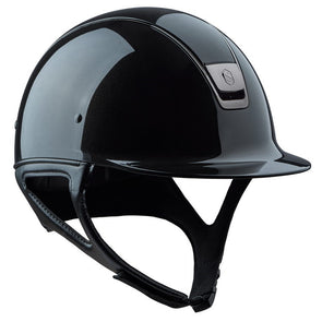 Samshield SHADOW GLOSSY Helmet - Black - Equestrian Chic Boutique