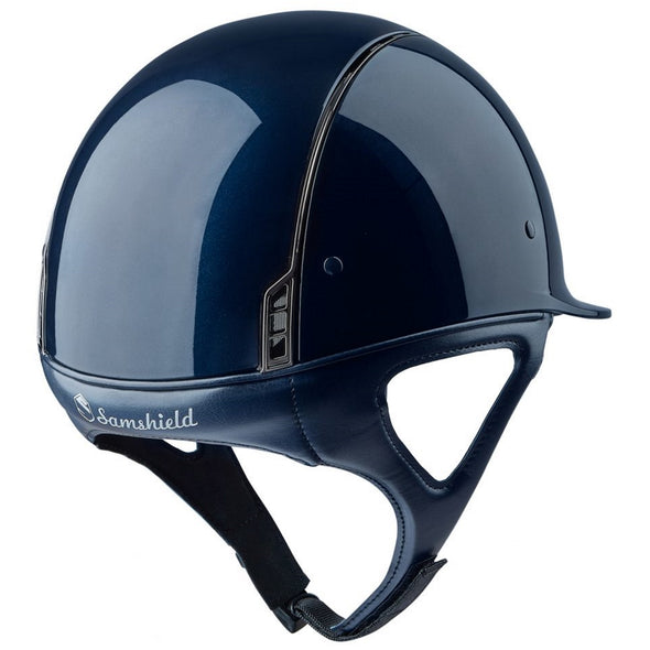 Samshield SHADOW GLOSSY Helmet - Blue - Equestrian Chic Boutique