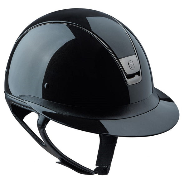Samshield MISS SHIELD SHADOW GLOSSY Helmet - Black - Equestrian Chic Boutique