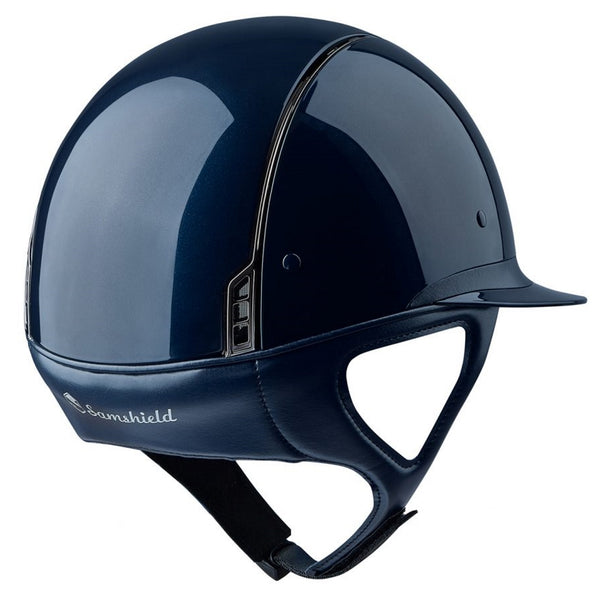 Samshield MISS SHIELD SHADOW GLOSSY Helmet - Blue - Equestrian Chic Boutique