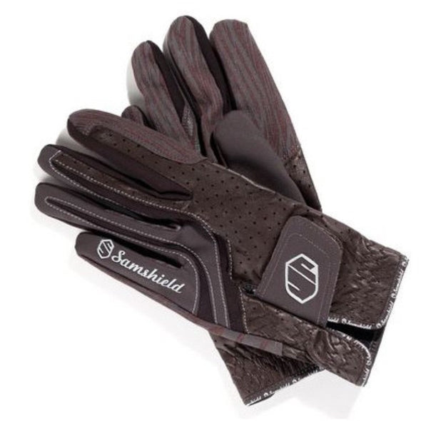 Samshield V-Skin Gloves - Brown - Equestrian Chic Boutique