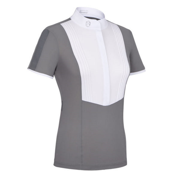 Samshield Georgia Ladies Show Shirt - Grey - Equestrian Chic Boutique
