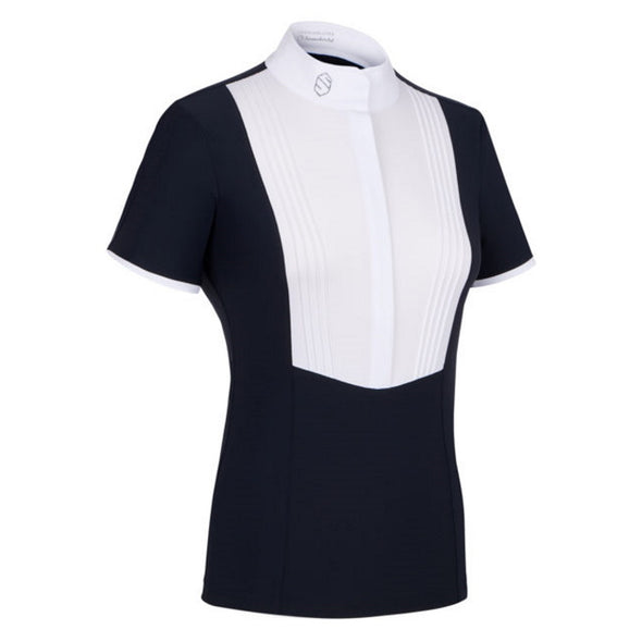 Samshield Georgia Ladies Show Shirt - Navy - Equestrian Chic Boutique