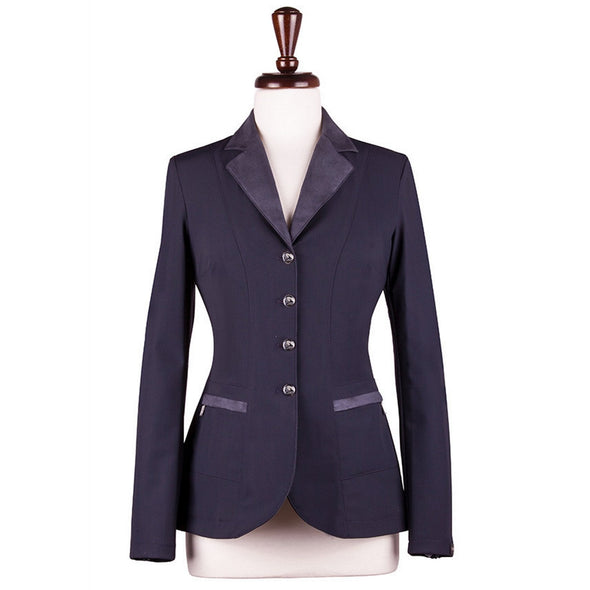 Sarm Hippique NAVY VERBANIA Show Coat - Navy with Navy - Equestrian Chic Boutique