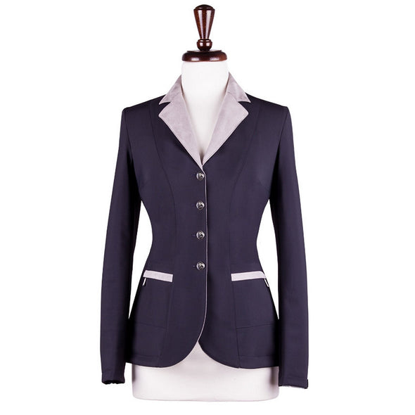 Sarm Hippique NAVY VERBANIA Show Coat - Navy with Light Grey - Equestrian Chic Boutique