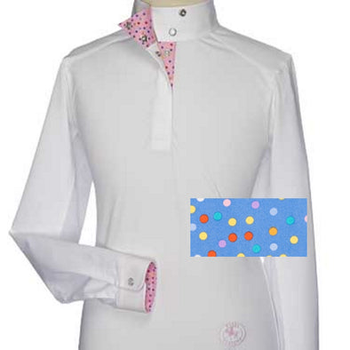 Essex Classics Pallini Girls Talent Yarn Wrap Collar Show Shirt - Equestrian Chic Boutique