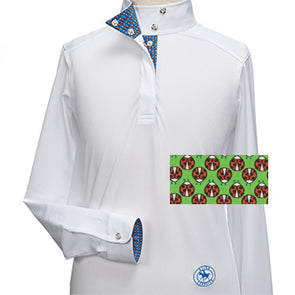 Essex Classics Ladybug Girls Talent Yarn Wrap Collar Show Shirt - Equestrian Chic Boutique