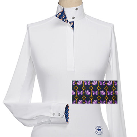 Essex Classics Papillon Ladies Talent Yarn Wrap Collar Show Shirt
