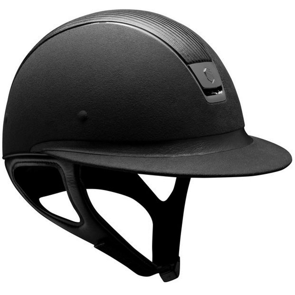 Samshield Miss Sshield PREMIUM Helmet LEATHER TOP - Black - Equestrian Chic Boutique