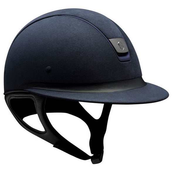 Samshield Miss Shield PREMIUM Helmet ALCANTARA TOP - Blue - Equestrian Chic Boutique