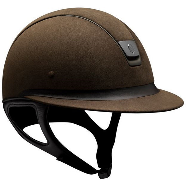 Samshield Miss Shield PREMIUM Helmet ALCANTARA TOP - Brown - Equestrian Chic Boutique