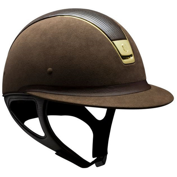 Samshield Miss Sshield PREMIUM Helmet LEATHER TOP - Brown - Equestrian Chic Boutique