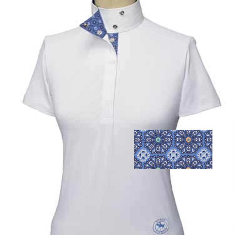 Essex Classics Flora Ladies Short Sleeve Show Shirt - Equestrian Chic Boutique