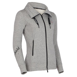 Samshield Ladies Swarovski Sweatshirt - Grey - Equestrian Chic Boutique