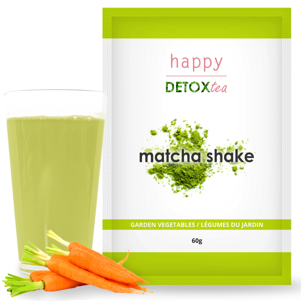 Garden Vegetables Matcha Shake Happy Detox Tea