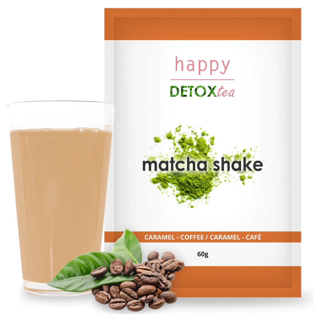 Matcha Shake Caramel Happy Detox Tea