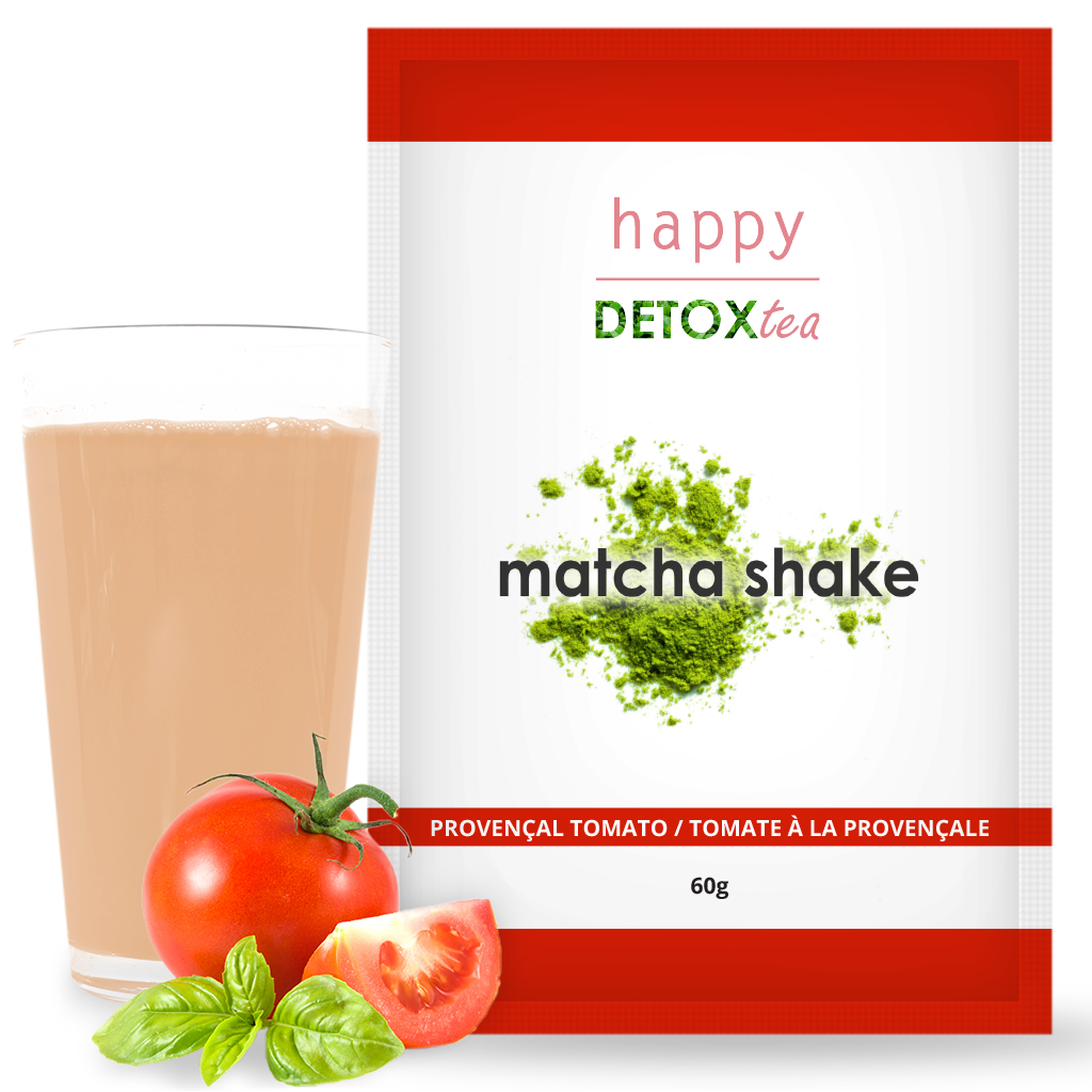 Matcha Shake tomate Happy Detox Tea