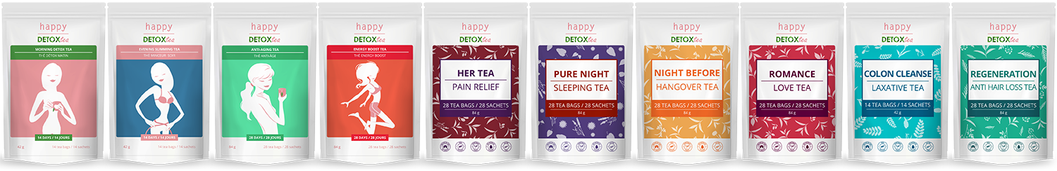 la marque happy detox tea