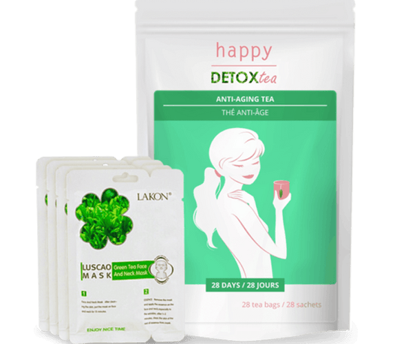 Kit anti-age et beauté Happy Detox Tea