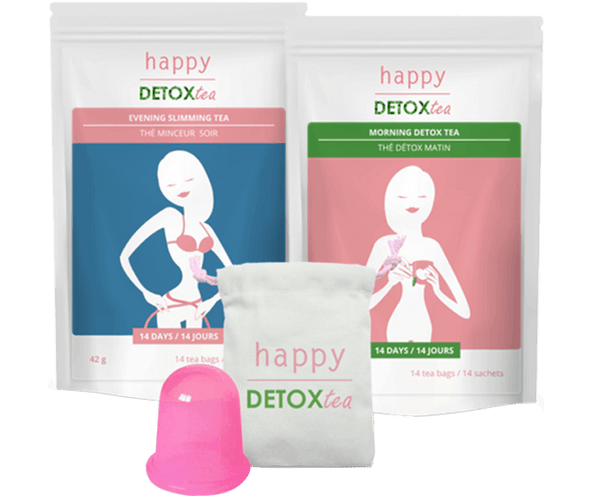 Kit anti cellulite et minceur Happy Detox Tea