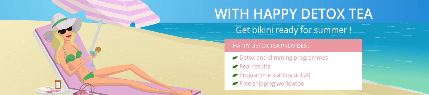 Get bikini ready for summer with Happy detox Tea.