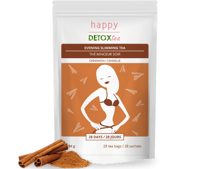 Thé minceur cannelle Happy Detox Tea Packaging face