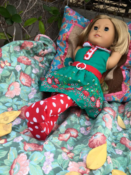 BUNDLE - Abby's Footed Tights & Swirly Pop Footed Doll Tights