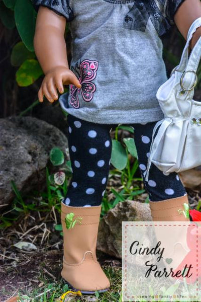 Swirly Pop Footed Doll Tights
