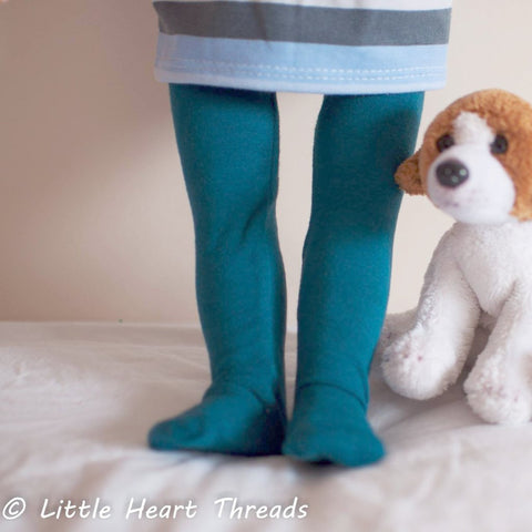 Doll - Swirly Pop Footed Doll Tights