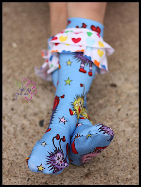 Abby's Knockout Socks - Dressy Socks (Children) PDF Sewing Pattern
