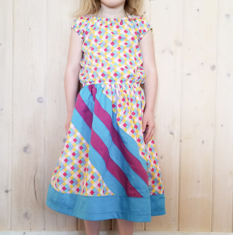 - BUNDLE - River Rainbow - Abby's Rainbow Skirt + Abby's River Blouse -