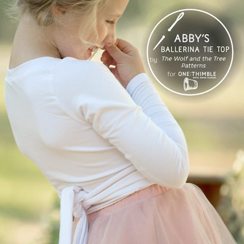 Abby's Ballerina Tie Top - Purchase it on the One Thimble Website!