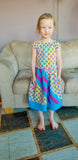 BUNDLE Abby's Rainbow River - Abby's Rainbow Skirt + Abby's River Blouse