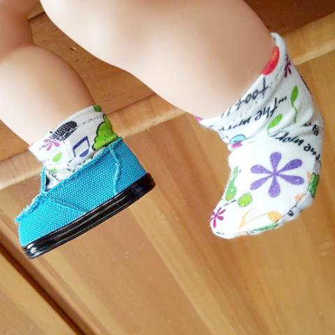 Doll - Poppy Swirl Doll Socks