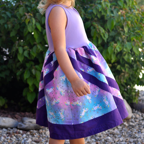 BUNDLE Abby's Rainbow Water - Abby's Watercolor Dress + Abby's Rainbow Skirt