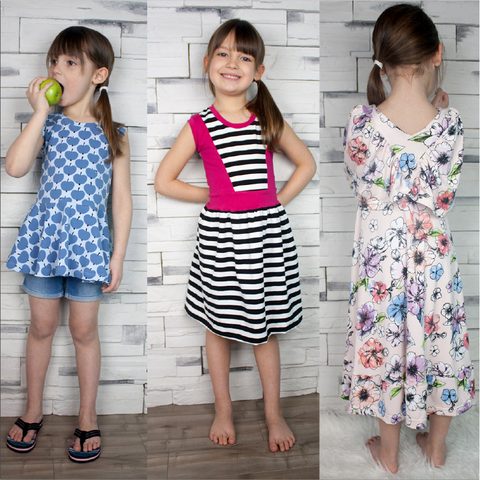 BUNDLE Abby's Watercolor, Spin + Twirl and Jump + Skip Dresses