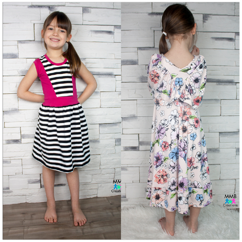 BUNDLE Abby's Watercolor Dress + Abby's Jump + Skip Dress