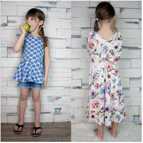 BUNDLE Abby's Watercolor Dress + Abby's Spin + Twirl Dress