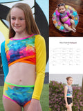Abby's Daybreak Rashguard Top + regular wear top (crop top, medium length, full length)