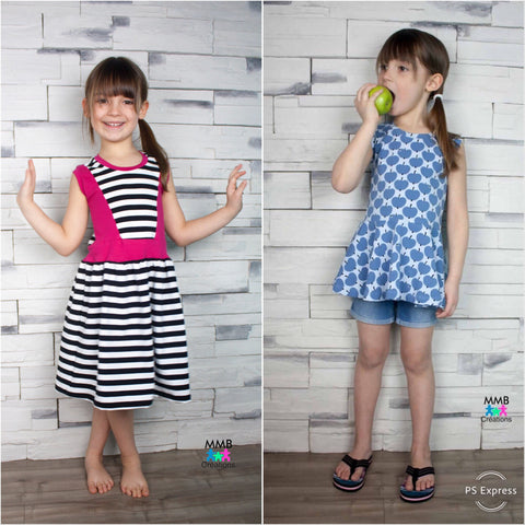 BUNDLE Abby's Jump + Skip Dress and Abby's Spin + Twirl Top + Dress
