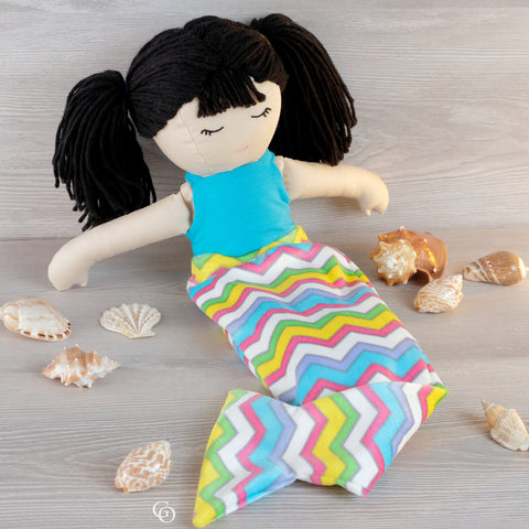- My Little Girl - Mermaid Tail + Skirt Add-on (doll clothes pattern only)