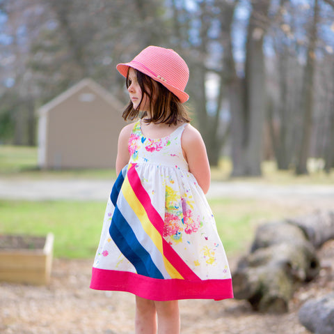 BUNDLE Abby's Rainbow Set - Abby's Rainbow Dress + Abby's Rainbow Skirt