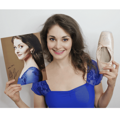 Autographed Kathryn Morgan Photo & Pointe Shoes