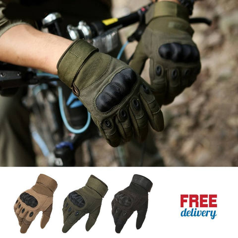 Hard Knuckle Full Finger Tactical Gloves