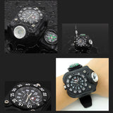 3 in 1 Super Bright LED Rechargeable Wrist Watch