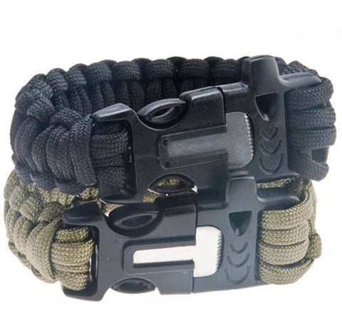 Paracord Survival Bracelet - Flint Fire Starter