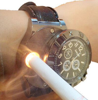 Military USB Charging Lighter Watch with Windproof Flameless Cigarette Lighter FREE SHIPPING
